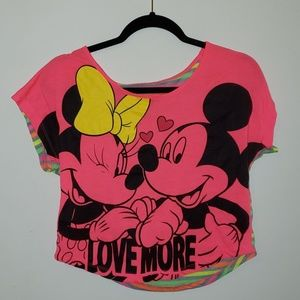 Disney Mickey mouse graphic tee hot pink small
